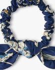 Chouchou fille imprimé floral Liberty bleu  ADOUE 20 / 20VU6012N95099