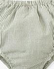 Robe et bloomer fille rayée verte et touches de lurex ANNELOU 20 / 20VU1929N18631