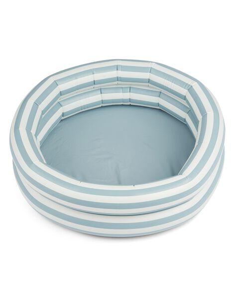 Piscine Leonore raye Sea Blue et crème PIS LEO BLU CRE / 21PJJO007GJO999
