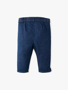 Pantalon fille en denim léger bleu coupe droite  ALDINETTE 20 / 20VU1914N03P269