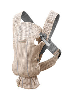 Porte-bébé Mini Carrier (0-1 an) en mesh rose nacré PBB MINI PEARL / 19PBDP002PBB030