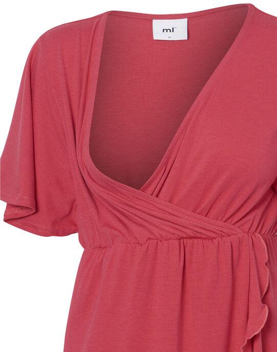 Robe d'allaitement rouge à volants MLMACHA DRESS / 19VW2683N18050