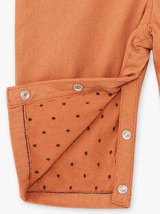 Salopette longue garçon en twill couleur biscuit COCOON 21 / 21VU2011N05I821