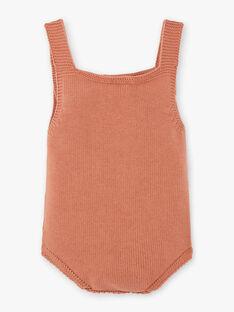 Barboteuse tricot fille pécan en coton biologique DALICIA 21 / 21PV2211N26I821