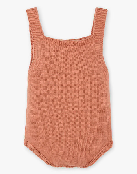 Barboteuse tricot fille couleur pécan DALICIA 21 / 21PV2211N26I821