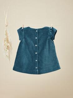 Robe manches courtes en velours palatine bleue VITABLEU 19 / 19IU193AN18631