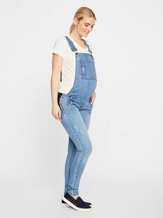 Salopette slim en jean bleu clair de grossesse MLLOLA OVERALL / 19VW2681N05704