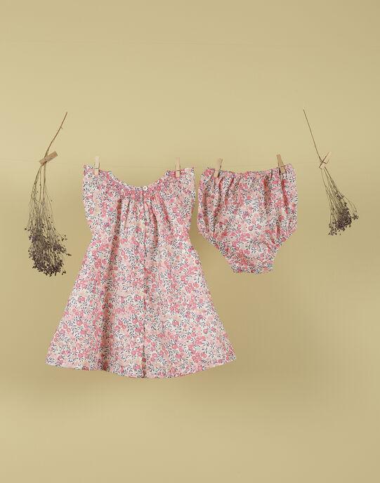 Robe et bloomer rose Liberty fille TULINA 19 / 19VV2273N18632