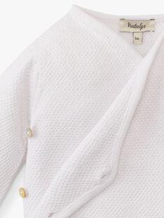 Brassière croisée mixte blanche coton pima ANGE 20 / 20PV7511N2A000