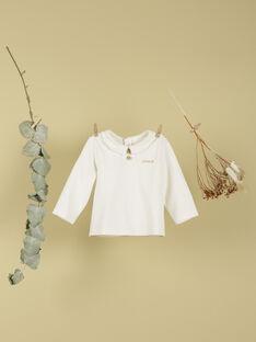 T-shirt naissance vanille brodé amour mixte TAMARIN 19 / 19PV2421N0F114