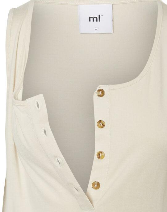 Débardeur de grossesse et d'allaitement en jersey blanc MLVIKA TOP / 19VW2681N38000