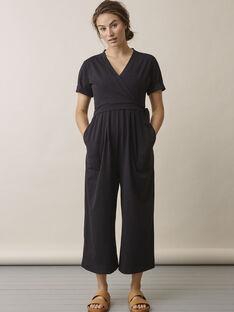Combinaison de grossesse & allaitement coton bio Amelia Boob noire BOAMELIA / 20VW2641N42090