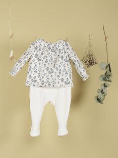 Pyjama bi-matière vanille fille TOINON 19 / 19VX6564N32114