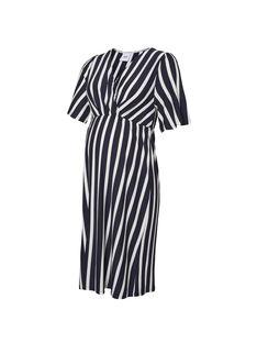 Robe de grossesse à rayures bleues et blanches MLBECKY DRESS / 19VW268BN18099