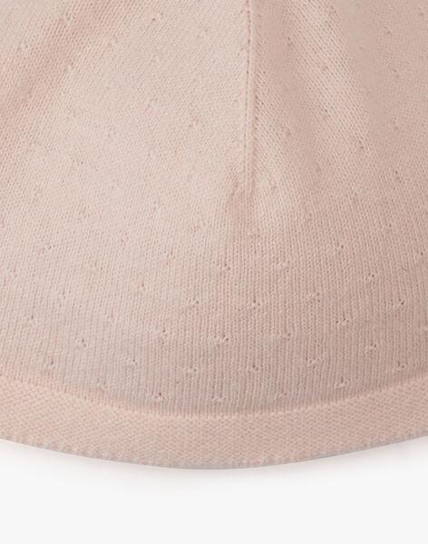 Bonnet tricot naissance fille rose tendre coton cachemire AMIRETTE 20 / 20PV6811N63307