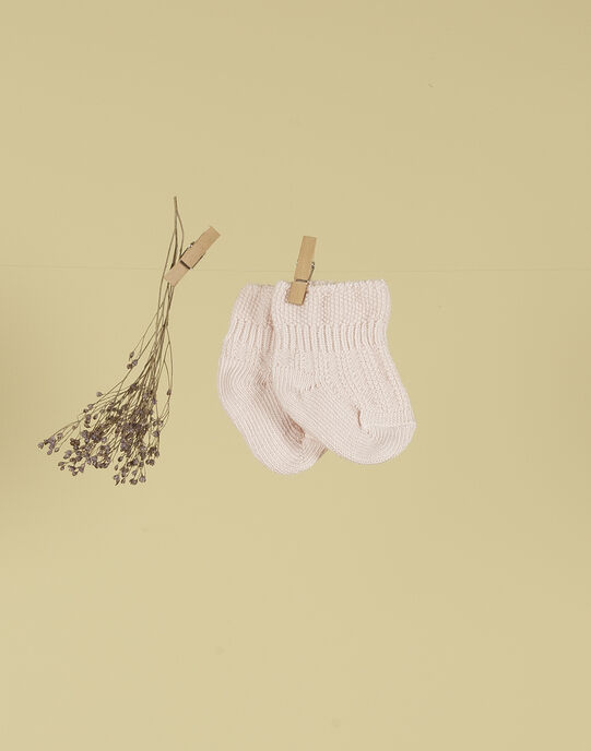 Chaussettes rose tendre fille TALENTILLE 19 / 19PV6821N47307