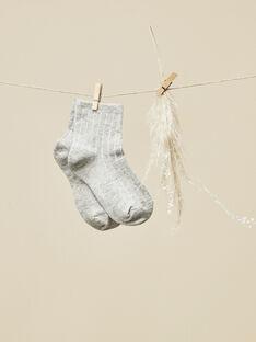 Chaussettes gris chiné bébé garçon  VIGNETTE 19 / 19IU6114N47943