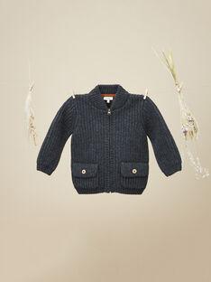 Veste en tricot gris anthracite garçon   VITALY 19 / 19IU2021N17944