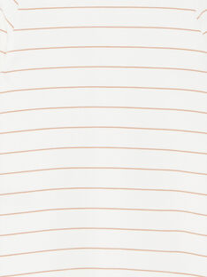 Grenouillère mixte vanille en interlock rayé coton pima  DIBO 21 / 21PV7314N31114