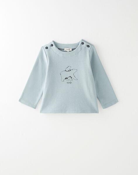 Tee shirt manche longue vert toundra garçon  BRIAN 20 / 20IU2082N0FG610