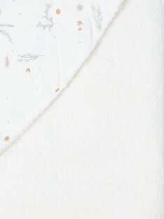 Cape de bain blanche à imprimé fleuri PERLE-EL / PTXQ6213N73632