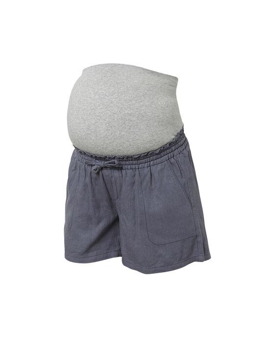 Short de grossesse bleu MLLINEN SHORTS / 19VW2681N02080