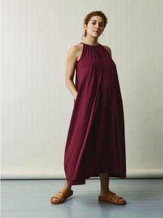 Robe de grossesse & allaitement coton bio Boob bordeaux BOAIR HALTERNEC / 20VW2648N18503