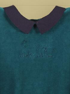 Grenouillère vert émeraude garçon TIWI 19 / 19VX6662N32608