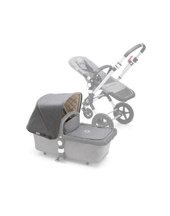 Habillage poussette Cameleon 3 : capote & tablier pour nacelle gris chiné HABILLAGE CAM 3 / 16PBPO002HAB943