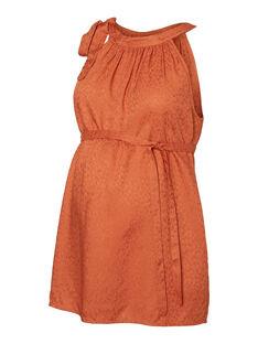 Haut de grossesse et d'allaitement sans manches orange MLCHELINA TOP / 19VW2683N09403
