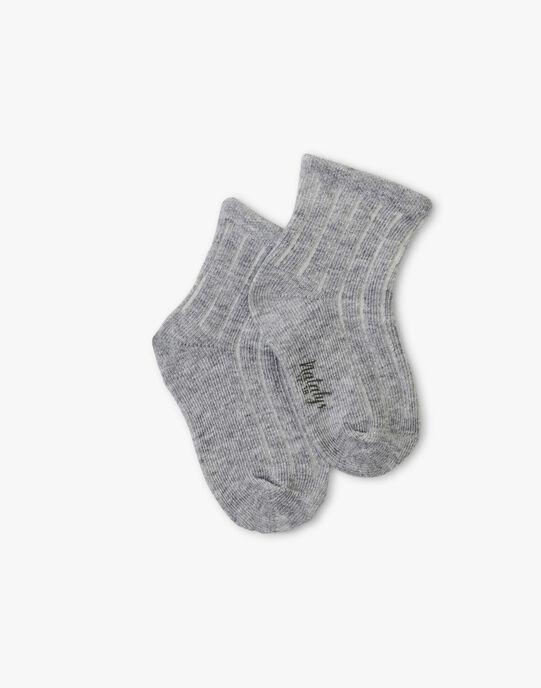 Chaussette à cote gris chiné  ARIO-EL / PTXU6112N47943