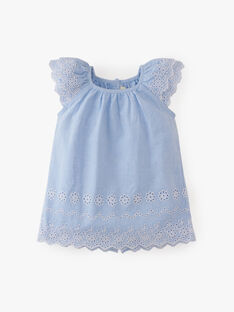 Robe et bloomer fille en chambray bleu   ADELA 20 / 20VV2211N18721