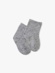Chaussette fille gris chiné moyen  ALOUISE-EL / PTXU6011N47J922