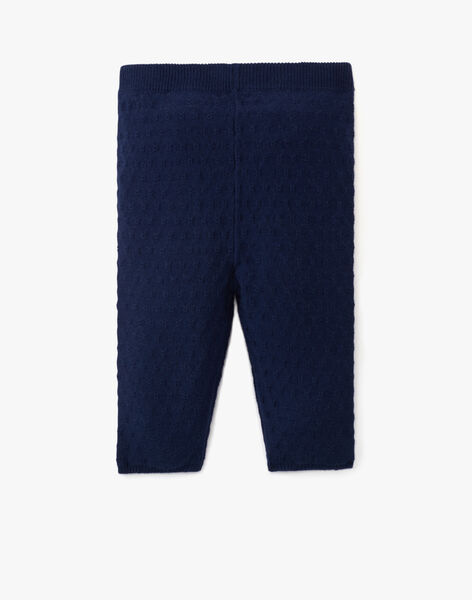 Legging fille coton cachemire couleur marine ANELMA-EL / PTXU1911N3A070