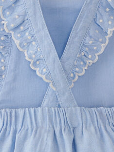 Barboteuse fille en chambray bleu  ALINETTE 20 / 20VV2211N27721