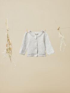 Cardigan en tricot gris chiné fille  VINAXELLE 19 / 19IV2213N11943