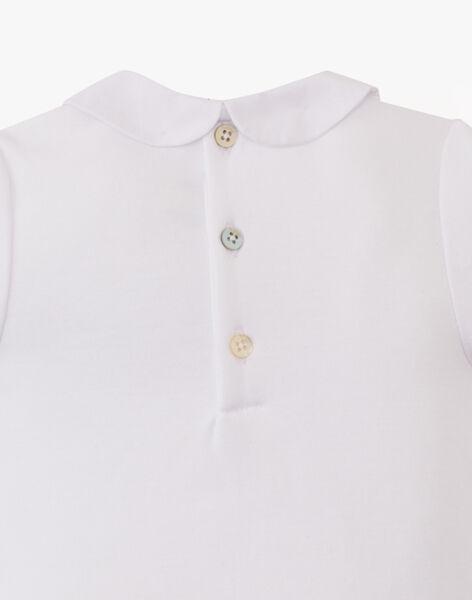 Body fille blanc manches courtes en coton pima ASOLENE-EL / PTXU1912N29000