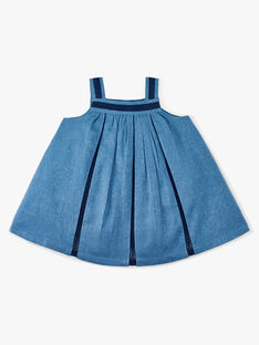 Robe bain de soleil et bloomer fille bleu nattier   ALINDA 20 / 20VU1921N18201