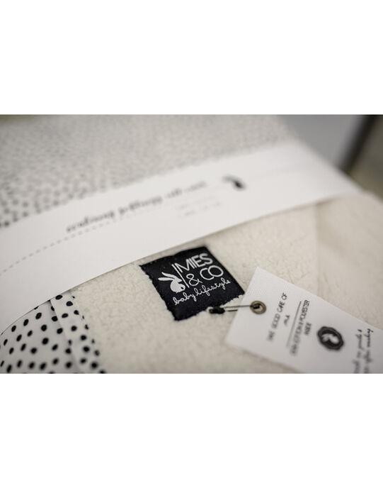 Couverture Mies & Co à pois noirs 70x100 cm 0-6 mois COUV COZY DOTS / 19PCTE005DEL999
