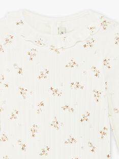 Body côtelé imprimé fleuri coton biologique bébé fille DAHINA 21 / 21IU1911N29114