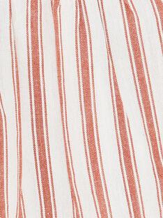 Blouse fille manches courtes vanille rayée CONSTANCE 21 / 21VU1912N09114