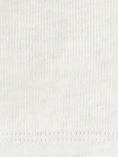 Tee shirt manche longue beige chiné garçon  BENJAMIN 20 / 20IU2081N0FA011