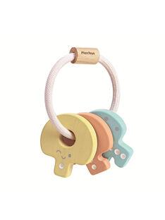 Hochet clés Plan Toys pastel 7,2x5,5x10,4 cm dès 4 mois HOCHET CLES / 19PJJO011HOC999