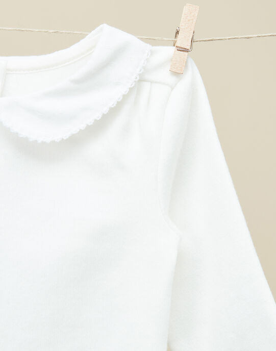 Body à col Claudine manches longues vanille fille  VINAILA 19 / 19IV2211N29114