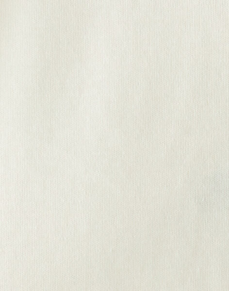 Body fille vanille à col collerette en interlock coton   BRITANNY 20 / 20IU1952N29114