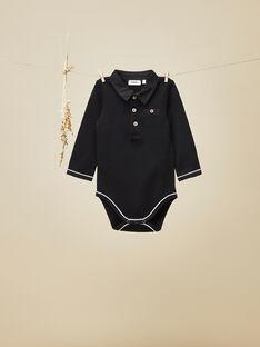 Body manches longues noir bébé garçon  VANGELIS 19 / 19IU2013N29090