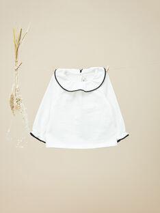 Tee-shirt manches longues avec collerette vanille fille VAJULIETTE 19 / 19IU1921N0C114