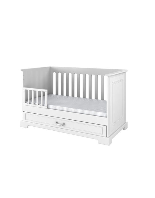 Lit bébé Inès Natalys blanc 94x153x84 cm (0-7 ans) LIT INES 70B / 14PCMB011LBB000