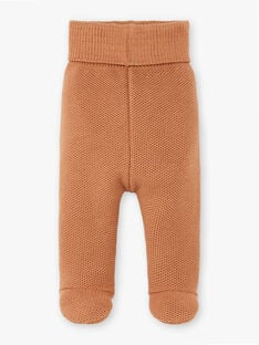Pantalon tricot mixte caramel en coton laine mérinos DOUDOU 21 / 21PV2415N3A420