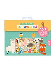 """""""Ma pochette de gommettes : 100 animaux mignons"""" Auzou 19x13,7x1 cm dès 18 mois GOMM ANIMAUX / 19PJME013LIB999"""